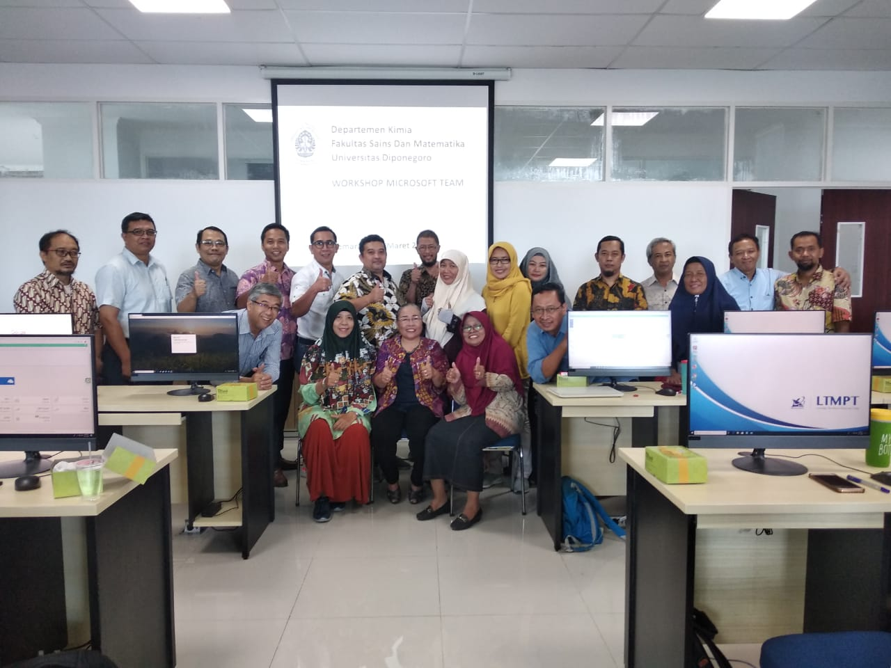 Workshop Microsoft Team oleh Departemen Kimia